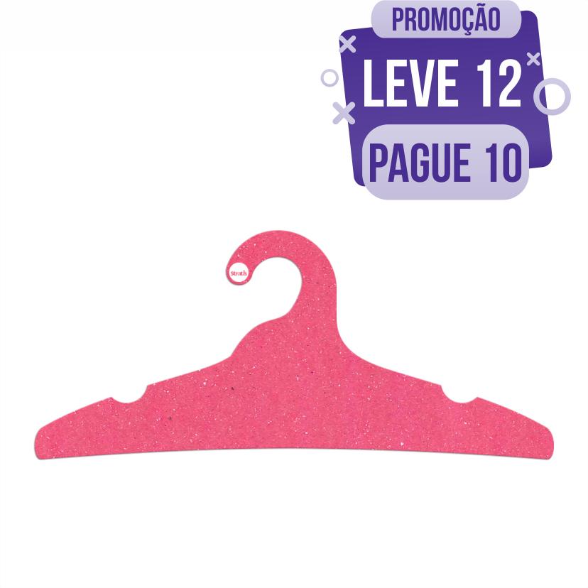 Leve 12 Pague 10  - Cabide Ecológico Adulto -  Rosa - CS104