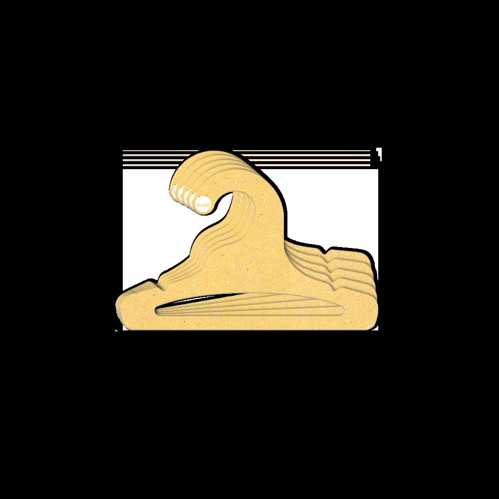 Leve 12 Pague 10  - Cabide Ecológico Infantil Aberto  - Amarelo - CS101