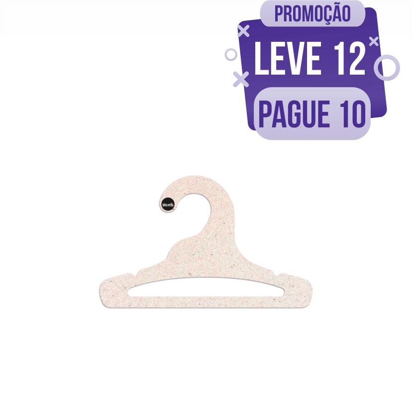 Leve 12 Pague 10  - Cabide Ecológico Infantil Aberto -  CS101