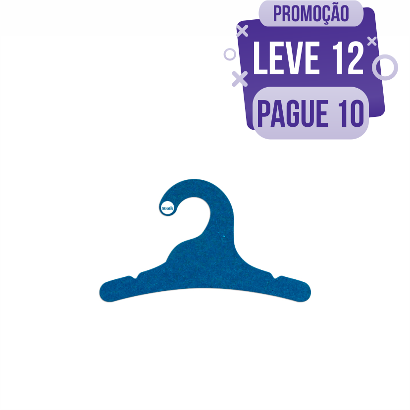Leve 12 Pague 10  - Cabide Ecológico Infantil - Azul Royal - CS100