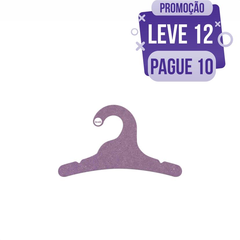 Leve 12 Pague 10  - Cabide Ecológico Infantil -Lilás - CS100