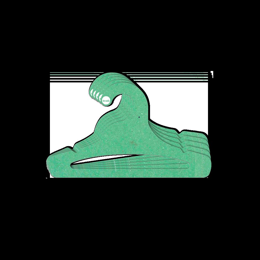 Leve 12 Pague 10  - Cabide Ecológico Juveni Abertol- Verde Claro - CS103