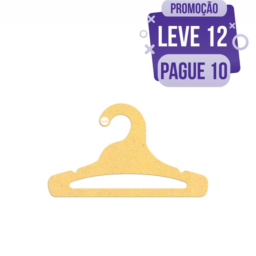 Leve 12 Pague 10  - Cabide Ecológico Juvenil Aberto - Amarelo - CS103