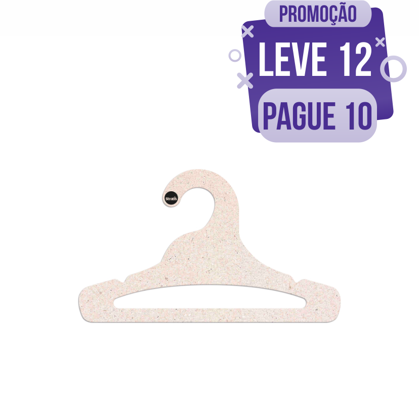 Leve 12 Pague 10  - Cabide Ecológico Juvenil Aberto - CS103