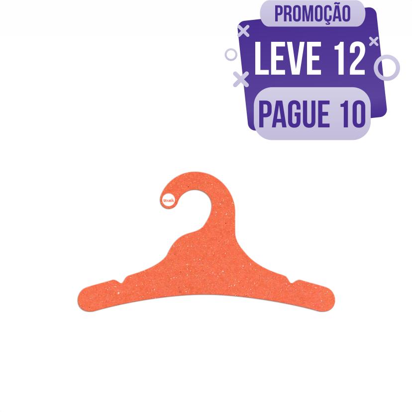Leve 12 Pague 10  - Cabide Ecológico Juvenil- Laranja - CS102
