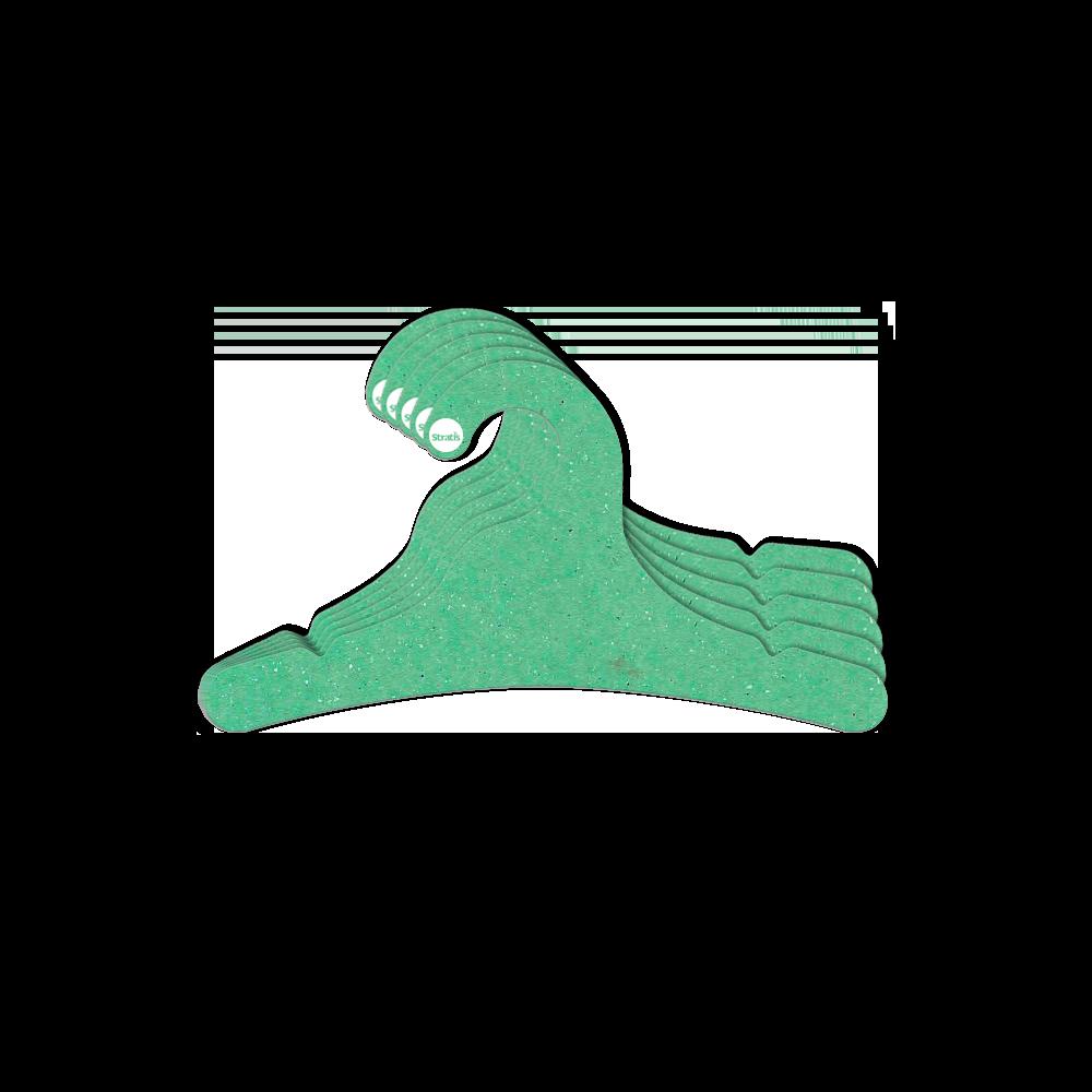 Leve 12 Pague 10  - Cabide Ecológico Juvenil- Verde Claro - CS102