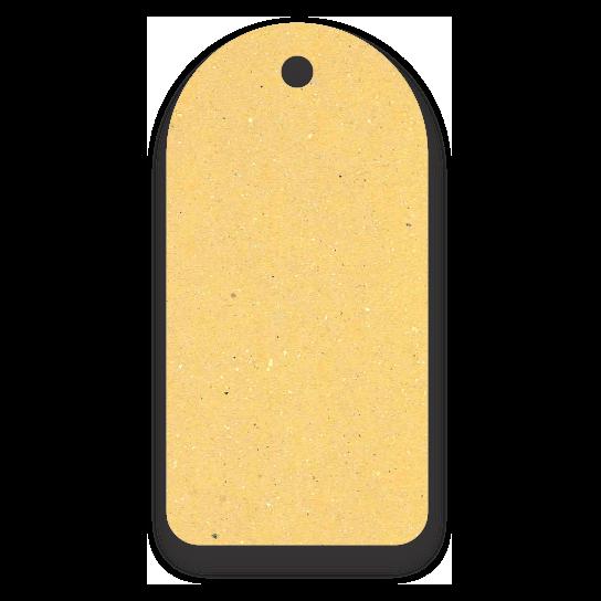 Tag  Etiquetas Ecológicas - Amarelo - CS300