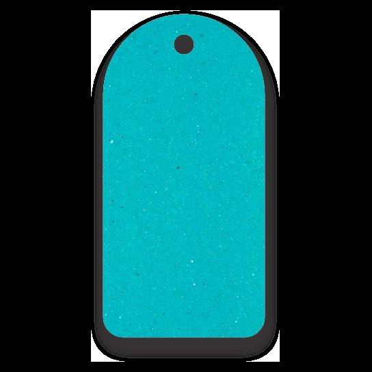 Tag  Etiquetas Ecológicas - Azul Ciano - CS300