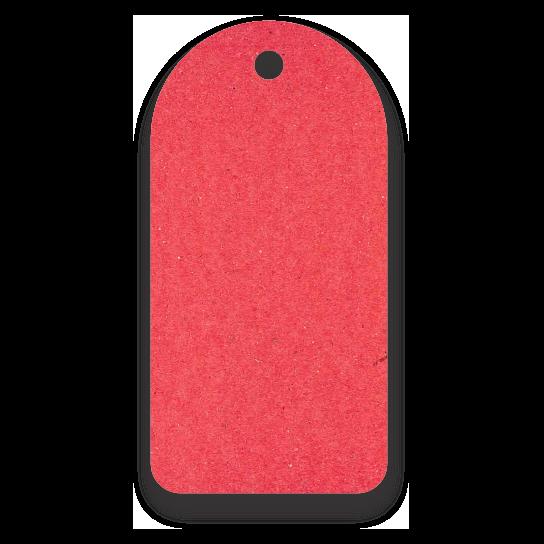 Tag  Etiquetas Ecológicas - Vermelho - CS300