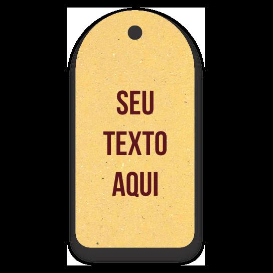 Tag  - Etiquetas Ecológicas  - Personalizados com sua Logomarca  - Amarelo -  CS300