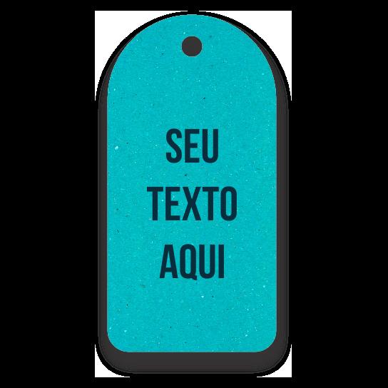 Tag Etiquetas Ecológicas  -Personalizados com sua Logomarca   - Azul Ciano -  CS300