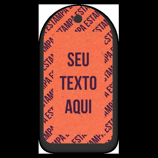 Tag  Etiquetas Ecológicas -Personalizados com sua Logomarca   - Laranja - CS300