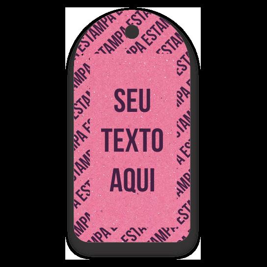 Tag  Etiquetas Ecológicas - Personalizados com sua Logomarca   - Rosa - CS300