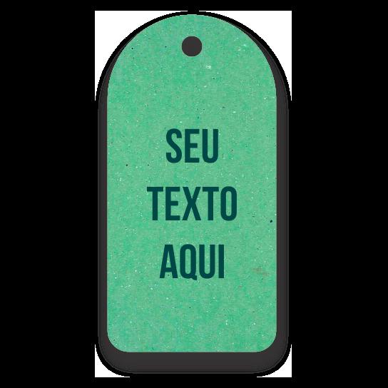 Tag  Etiquetas Ecológicas - Personalizados com sua Logomarca  - Verde Claro - CS300