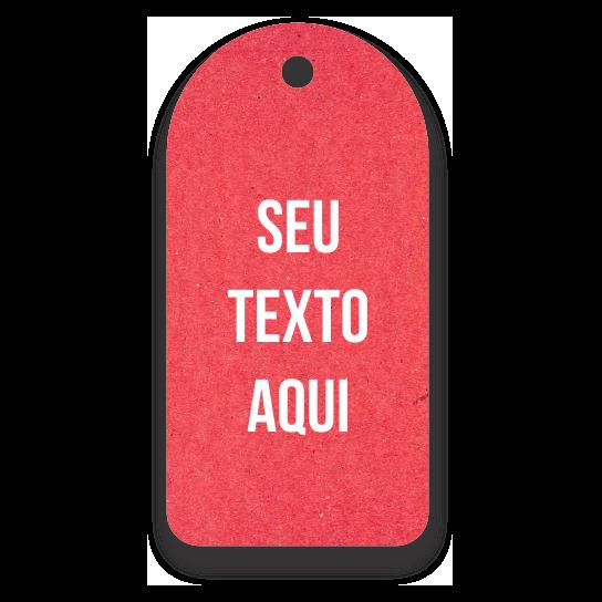 Tag - Etiquetas Ecológicas - Personalizados com sua Logomarca   - Vermelho - CS300