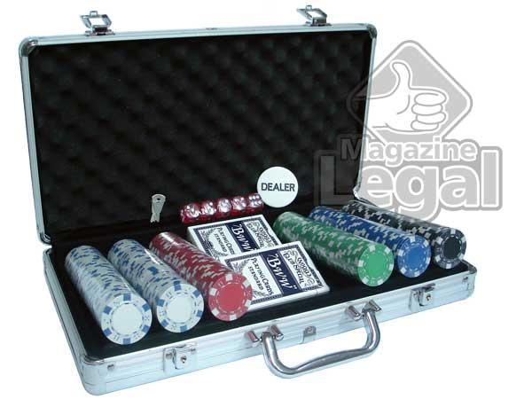 Maleta com 300 fichas para poker oficias Sem numeração - Magazine Legal