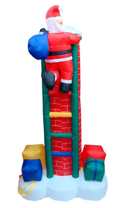 Inflável Papai Noel na Chaminé com Escada - 2,10 Mts Altura - Magazine Legal