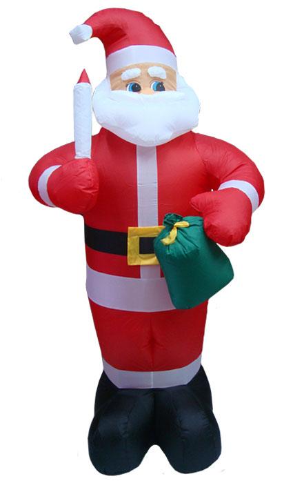 Inflável Papai Noel em Pé Decoração de Natal - 1,80 Mts. de Altura - Magazine Legal