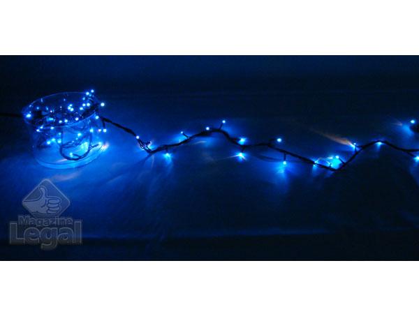 Pisca Pisca 100 Lampadas Arroz Azul - 4 Metros de comprimento - Magazine Legal