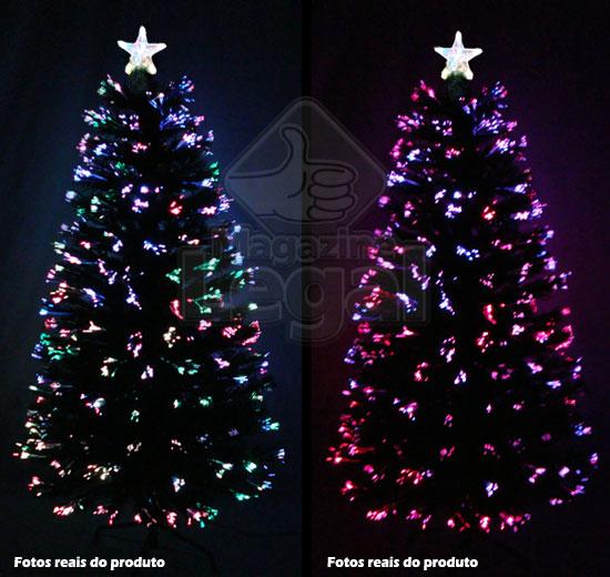 Árvore de Natal Iluminada por Fibras Óticas e Leds Coloridos de 1,50 Mts. - Magazine Legal