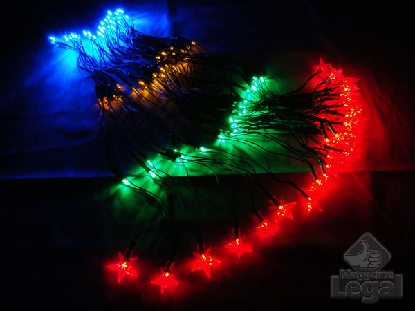 Pisca Cascata com 160 Leds Coloridos Alto Brilho e Sequencial 8 Funções - Magazine Legal