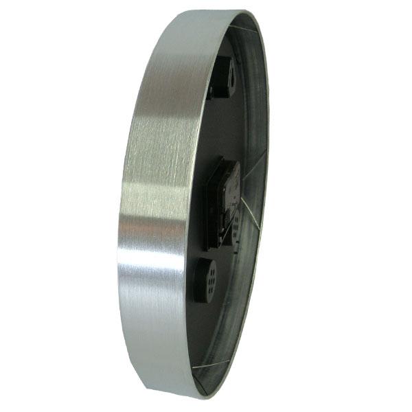 Relógio de Parede com Moldura em Aluminio Escovado - Magazine Legal