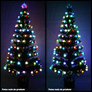 Arvore de Natal 60 cm Fibra Otica e Led de Bolinhas Coloridas - Magazine Legal