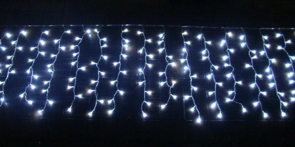 Cascata com 150 Leds Brancos c/ Sequencial - Enfeite Natal 2,5 Mts. - Magazine Legal