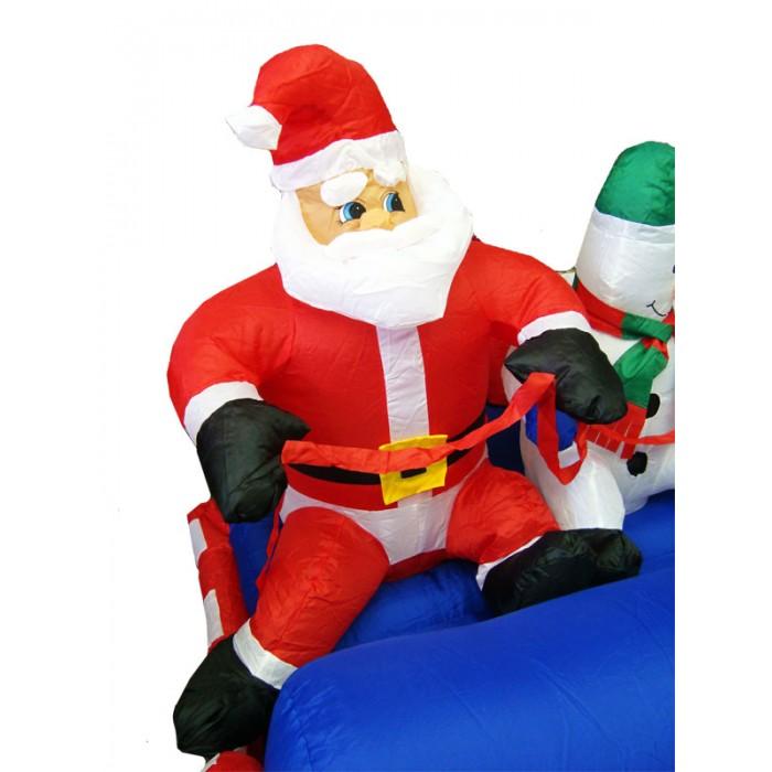 Inflável Papai Noel com Boneco de Neve Sentado Tréno - 1,20 altura - Magazine Legal