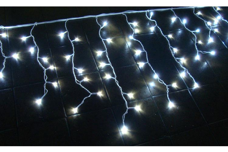 Cascata 400 Leds Brancos c/ Sequencial - Enfeite Natal 9 Mts Comprimento - Magazine Legal