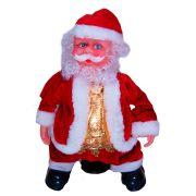Papai Noel Dançarino e Musical Roupa Vermelha e Dourada - Senta e Roda