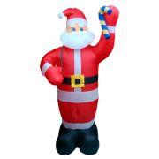 Inflável Papai Noel em Pé com Saco de Presentes - 2,30 Mts. de Altura