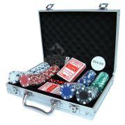 Maleta com 200 fichas para Poker oficiais Sem numeração - Magazine Legal
