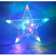 Ponteira para Árvore de Natal Estrela com Leds Super Brilho - Magazine Legal