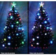 Árvore de Natal Iluminada por Fibras Óticas e Leds Coloridos de 1,50 Mts.