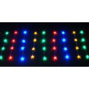 Cortina com 64 Estrelas de Acrílico e Leds Coloridos c/ Sequencial - Magazine Legal