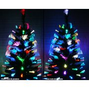 Arvore de Natal 1,50 Mts com Led Coloridos e Fibra Ótica Aberta Ponta - Magazine Legal