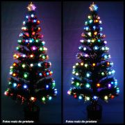 Arvore de Natal 2,10 Mts Fibra Otica e Led de Bolinhas Coloridas - Magazine Legal