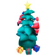 Inflável Árvore de Natal com Papai Noel e Presentes - 1,90 Mts de Altura - Magazine Legal