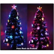 Árvore de Natal 1,20 Mts com Fibras Óticas e Leds Coloridos + Enfeite de Acrílico - Magazine Legal