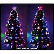 Árvore de Natal 1,50 Mts com Fibras Óticas e Leds Coloridos + Enfeite de Acrílico - Magazine Legal