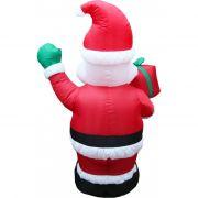 Inflável Boneco Papai Noel com Saco de Presentes - 1,20 Mts - Magazine Legal