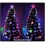 Árvore de Natal 1,80 Mts com Fibras Óticas e Leds Coloridos + Enfeite de Acrílico - Magazine Legal