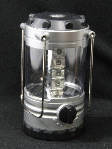Lanterna Lampião 12 Leds com Bussola DS1610 / XY-812 PRATA