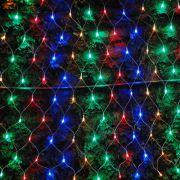 Rede luminosa 160 LEDs COLORIDA 110v 1120 4 Fases