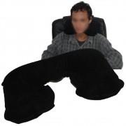 Almofada pescoço travesseiro inflável Preto CBRN01880