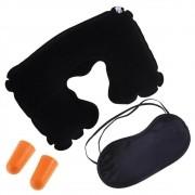 Almofada pescoço travesseiro inflável Mascara protetor ouvido CBRN01682