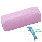 Apoio de Mão para Manicure Almofada Rosa + Chaveiro CBRN18468