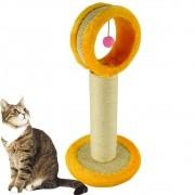 Arranhador Para Gatos Torre com Brinquedo Amarelo CBRN14521