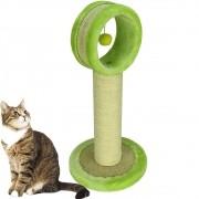 Arranhador Para Gatos Torre com Brinquedo Verde CBRN14552
